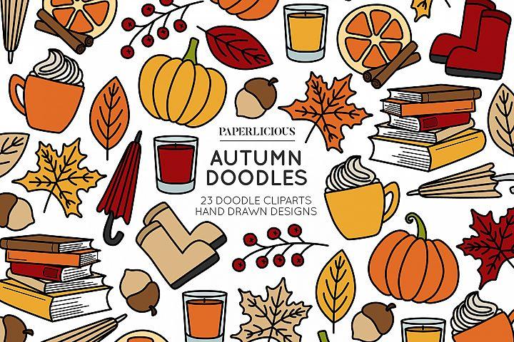 Autumn Doodle Cliparts