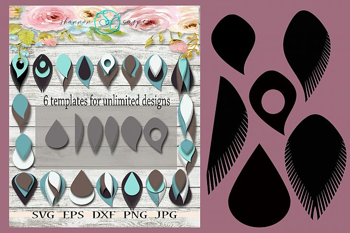 6 SVG Earring Templates