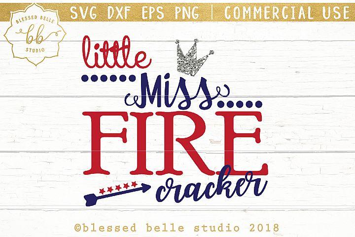 Little Miss Firecracker SVG + DXF + EPS + PNG
