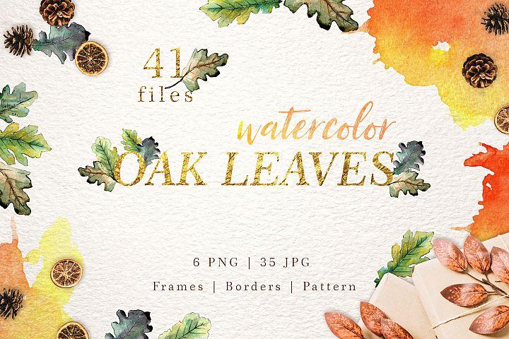 Oak leaves Watercolor png