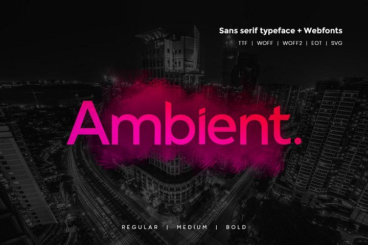 Ambient - Modern Typeface WebFonts