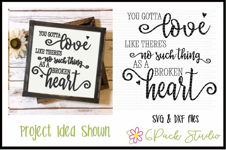 Broken Heart SVG