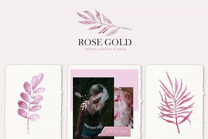Rose gold - a brilliant collection