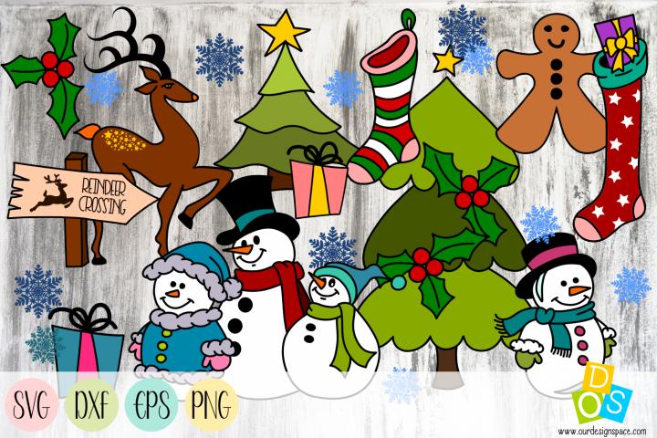 Christmas Bundle SVG, DXF, EPS and PNG files