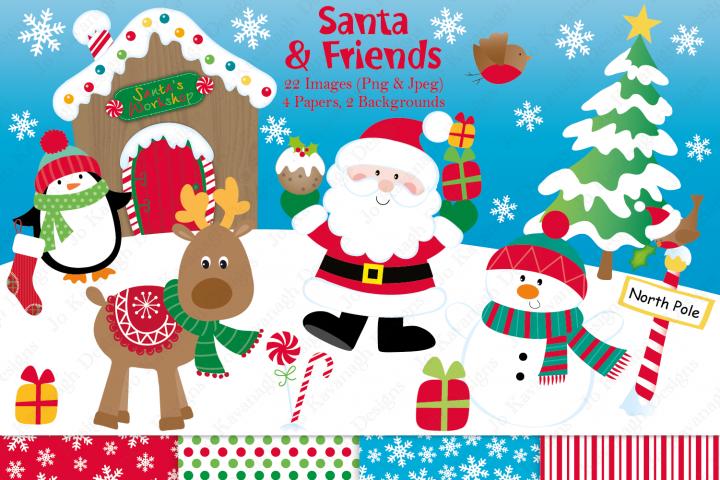Christmas clipart, Christmas graphics & illustrations, Santa