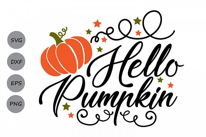 hello pumpkin svg, thanksgiving svg, pumpkin svg, fall svg.
