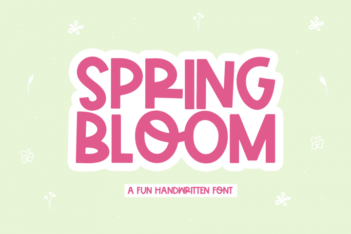 Spring Bloom - A Fun Handwritten Font