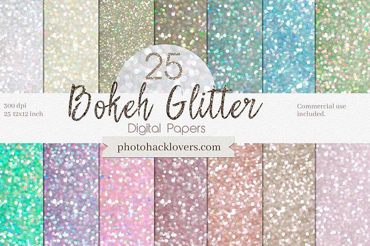 Bokeh Digital Paper -BOKEH pastel glitter digital Paper