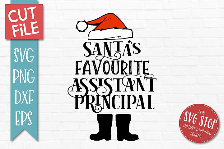 Santas Favourite Assistant Principal SVG, PNG, DXF, EPS