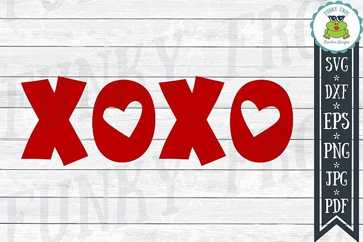 XOXO - Valentine SVG Cut File