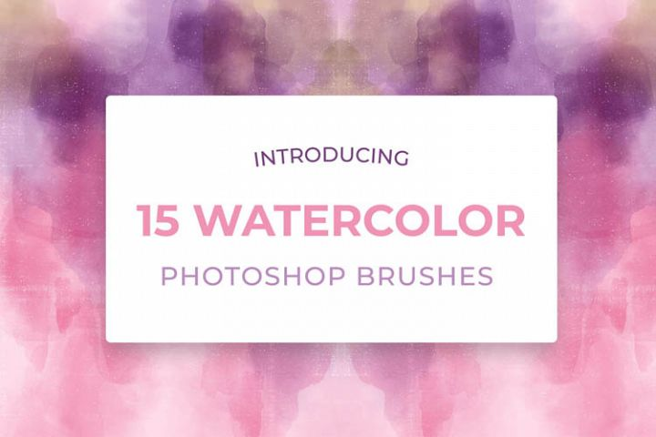 15 Watercolor Photoshop Brushes