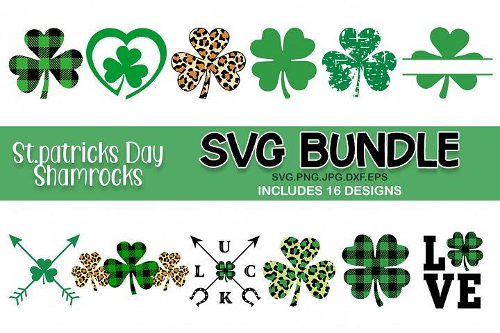St Patricks day shamrocks svg bundle. Shamrocks SVG