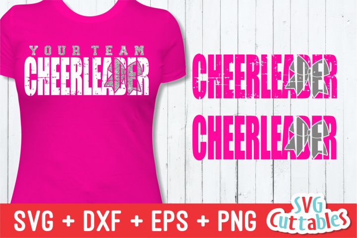 Cheerleader Distressed, SVG Cut File