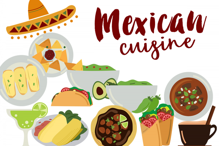 Mexican Food Clipart - Free Design of The Week Font