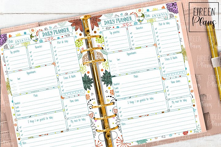 Daily Printable for 5.5x8.5 planners