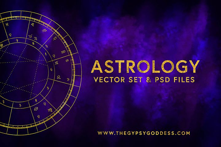 Astrology Vector Set & Birth Chart