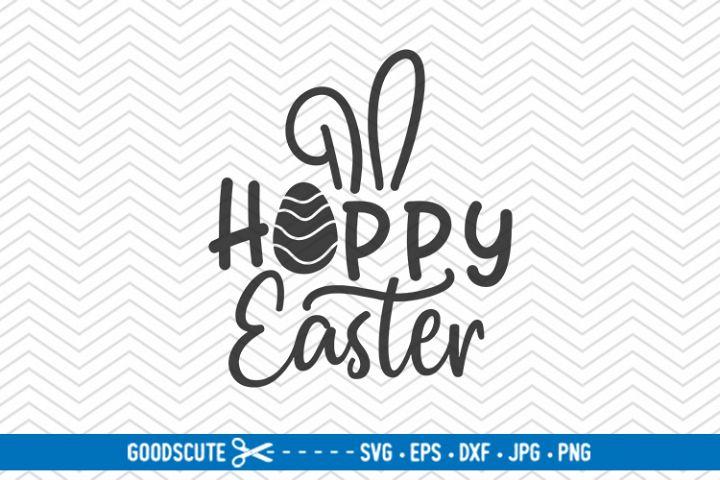 Hoppy Easter - SVG DXF JPG PNG EPS