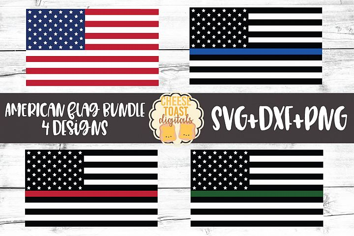 American Flag Bundle - 4th of July Patriotic SVG PNG DXF