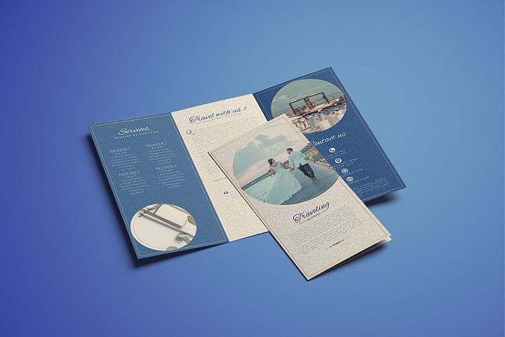 Traveling Business Trifold Brochure Template