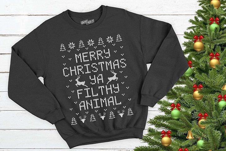 Merry Christmas Ya Filthy Animal Christmas Printable