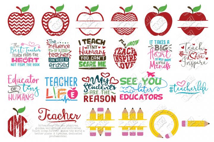 Teacher SVG Bundle in SVG/DXF/PNG/JPEG/EPS