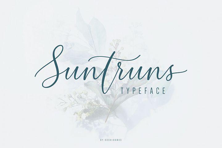 Suntruns Typeface