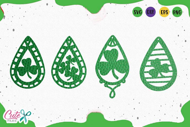 St. Patricks Earrings templante svg for crafters