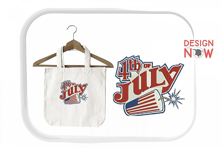 4th Of July Embroidery Design, Independance Day, 4th Of July example image 2