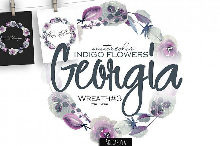 Georgia. Indigo Wreath #3.