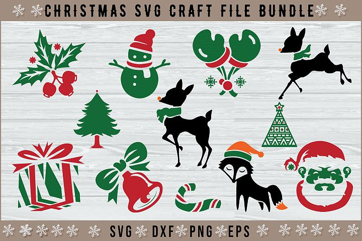 12 Christmas SVG Cut Files Pack
