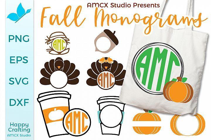 Fall Monogram Bundle - 9 Designs