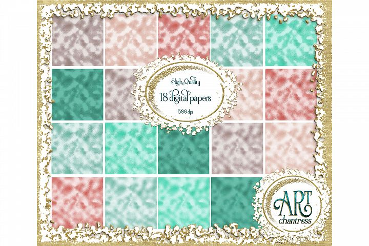 Glitter digital papers-pink and teal-digital textures JPEG