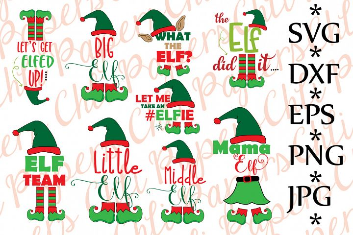 Bundle elf Svg, CHRISTMAS BUNDLE SVG