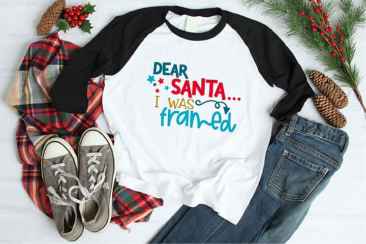 Dear Santa I Was Framed SVG, Christmas Sublimation