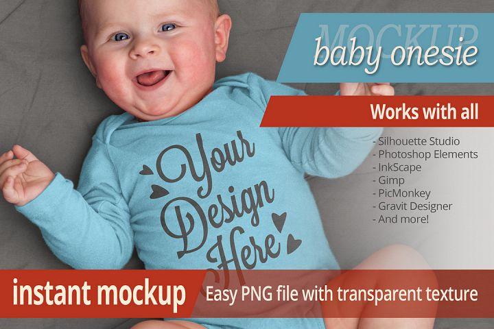 Instant photorealistic baby onesie mockup