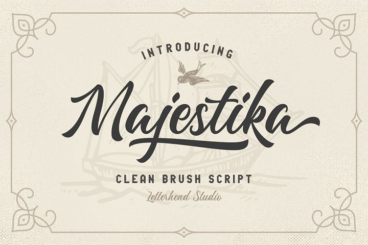 Majestika - Clean Brush Script