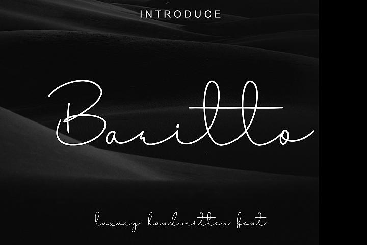 Baritto - handwritten font