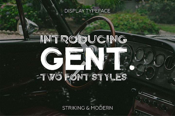 Gent. Display brushed typeface. Striking and modern.