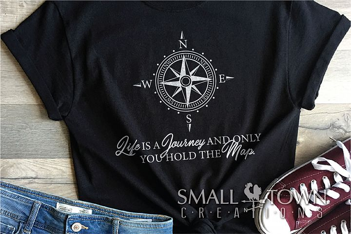 Compass, Life is a journey, Nautical, PRINT, CUT & DESIGN