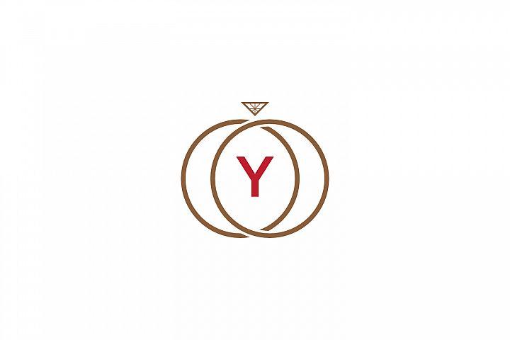 y letter ring diamond logo