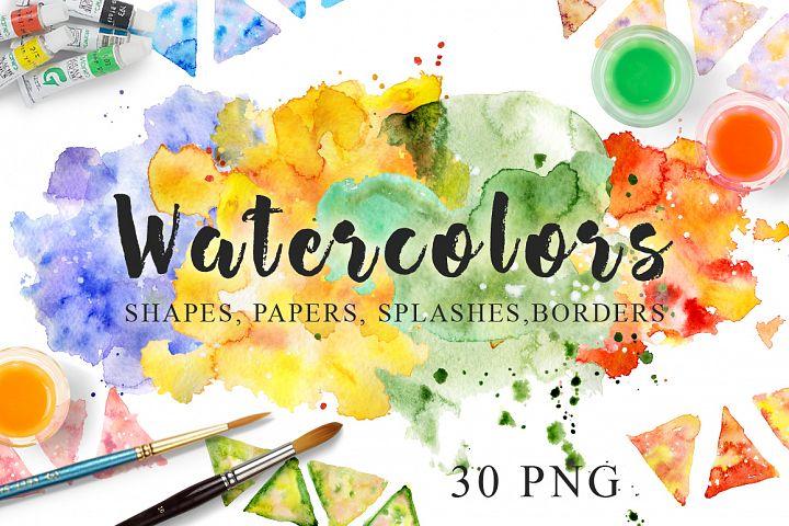 Watercolor Texture Clipart Watercolor background Hand drawn Watercolor clipart Digital paper Watercolor splash Blot Drop Scrapbooking PNG