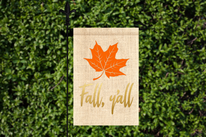 Fall Yall Leaf SVG File Template
