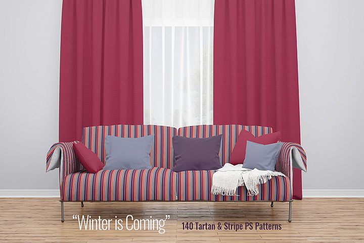 Winter is Coming - Bundle of Tartan & Stripe PS Patterns