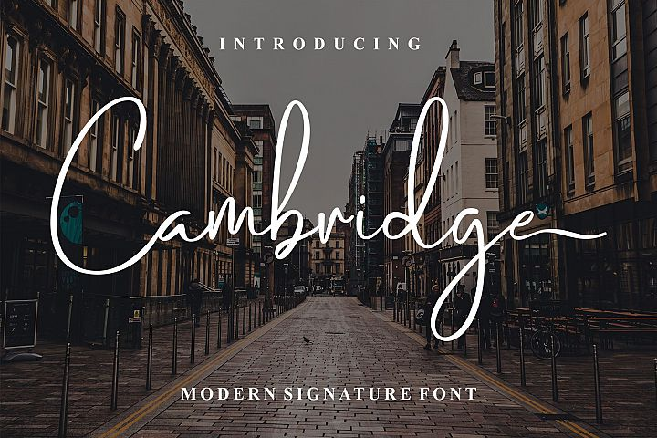 Cambridge Modern Signature