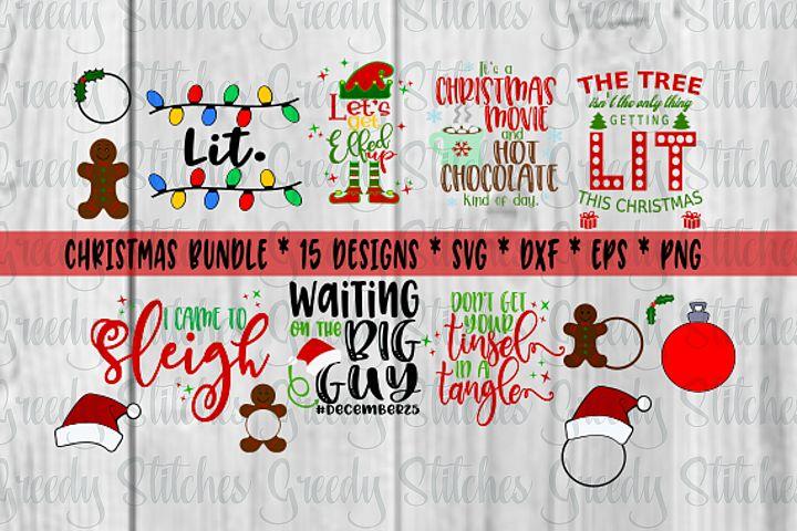 BIG Christmas SVG Bundle   SVG, DXF, EPS, PNG files included