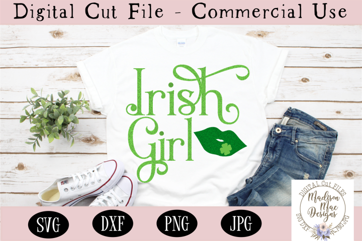 Irish Girl SVG, Saint Patricks Day SVG