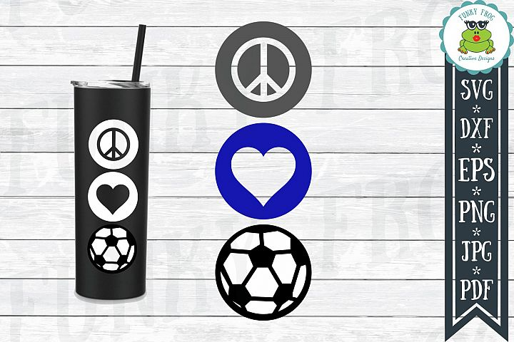 Peace Love Soccer SVG Cut File for Crafters