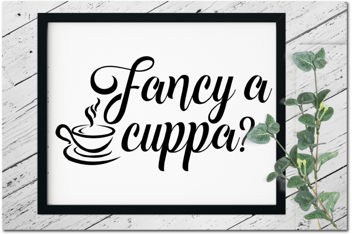 Fancy a Cuppa Design #2 - Art Print, Clip Art and SVG