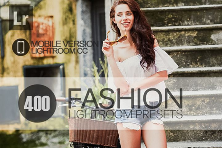 400 Fashion Lightroom Mobile bundle Presets