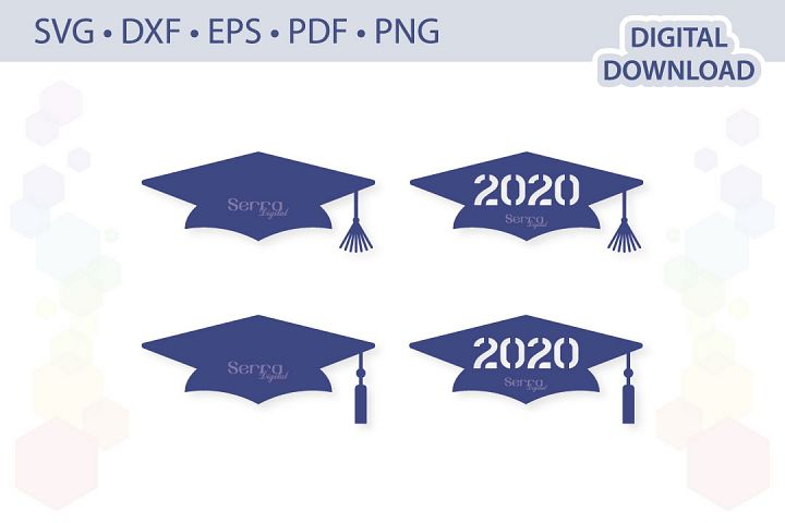 Graduation cap cut file .svg .dxf .eps .pdf .png